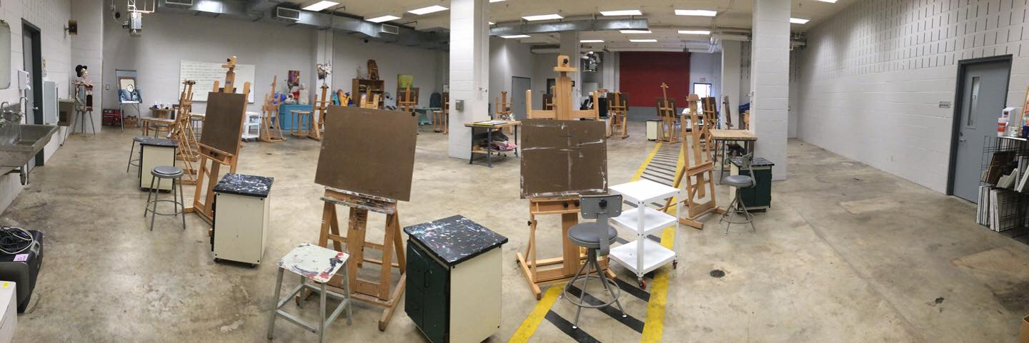 The painting studio at the Frazier Building.