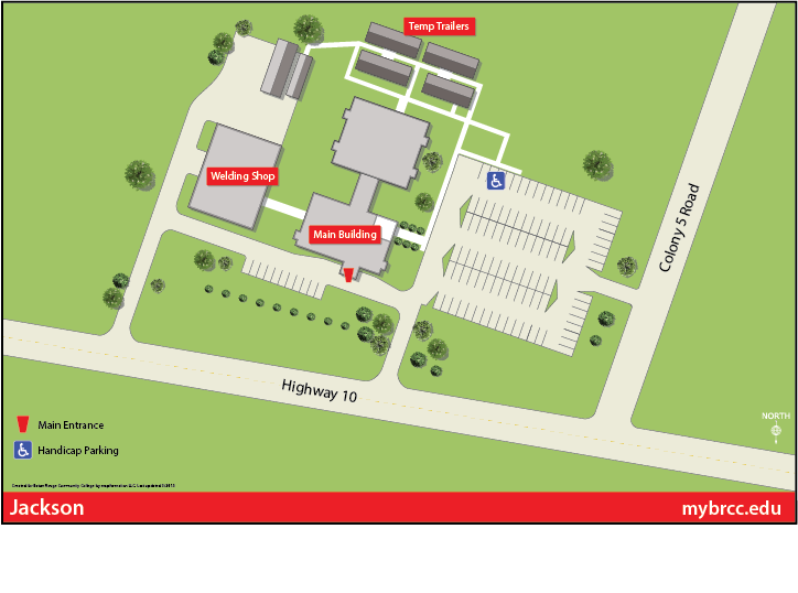 Jackson College Campus Map.Jackson Location Brcc