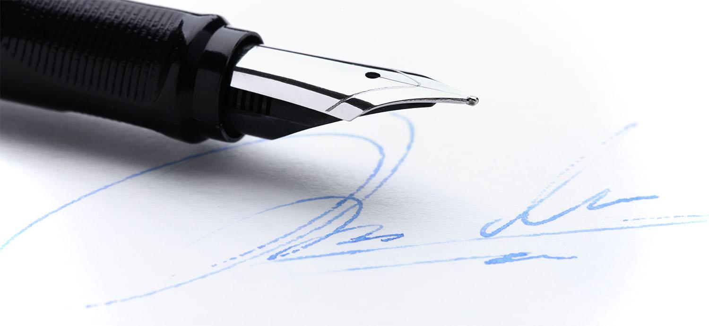 pen & signature