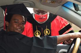 BRCC celebrates graduates at Drive-Thru Diploma pick-up