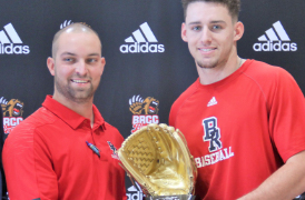 BRCC officials present Bears Baseball player, Cameron Crawford, with 2019 Gold Glove trophy