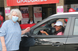Nursing and Allied Health Celebrate Spring Graduates During  Drive-Thru Pinning Ceremony