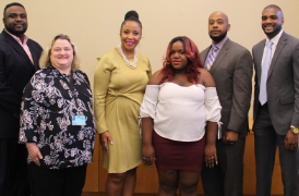 Program for Successful Employment at BRCC celebrates its first student to complete one year of employment, with recognition from governor's office